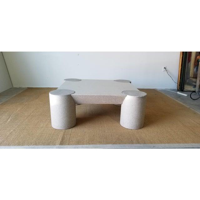 1980s Karl Springer Style Italian Postmodern Coffee Table For Sale - Image 9 of 10