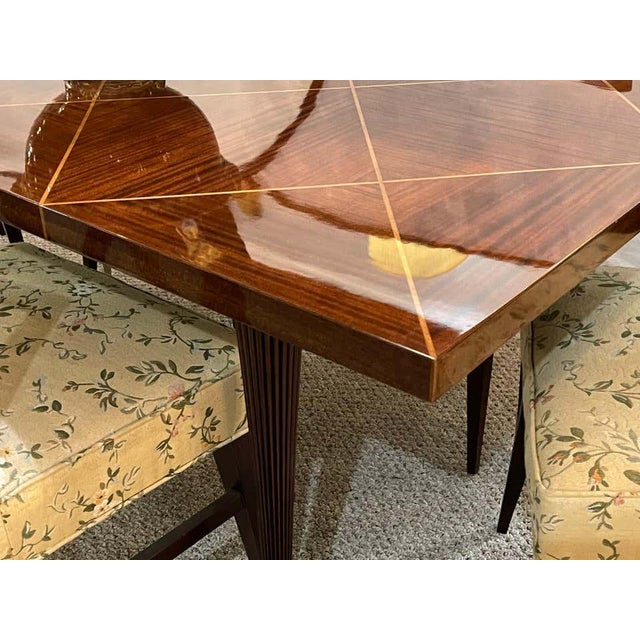 Wood A Tommi Parzinger Originals Dining Table Fully Refinished With Two Leaves For Sale - Image 7 of 13