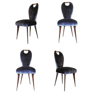 Set of Four Elegant Chairs For Sale