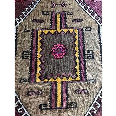 Antique Anatolian Kars Kilim Rug - 4′2″ × 6′7″ - Image 4 of 10