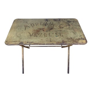 Antique French Metal Folding Table For Sale