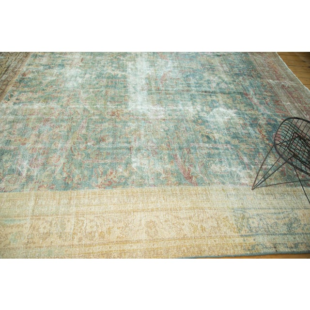 "Antique Mahal Square Carpet - 9'10"" x 10'9"" For Sale - Image 4 of 10"
