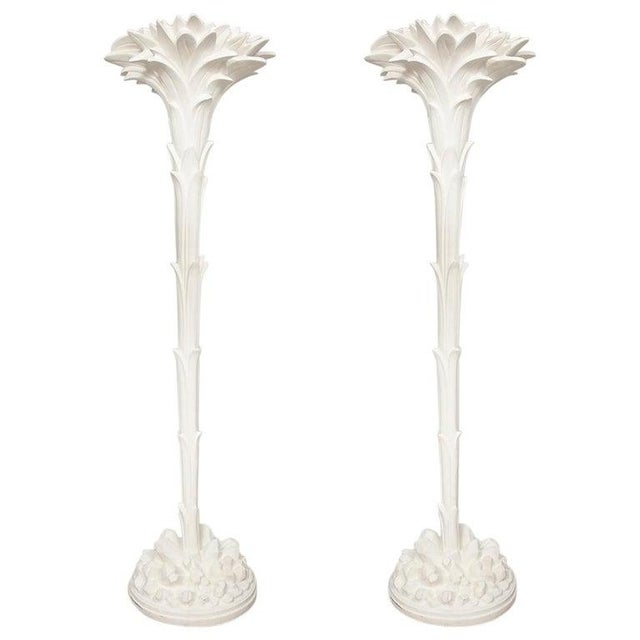 Custom Plaster Torchieres - a Pair For Sale - Image 10 of 10
