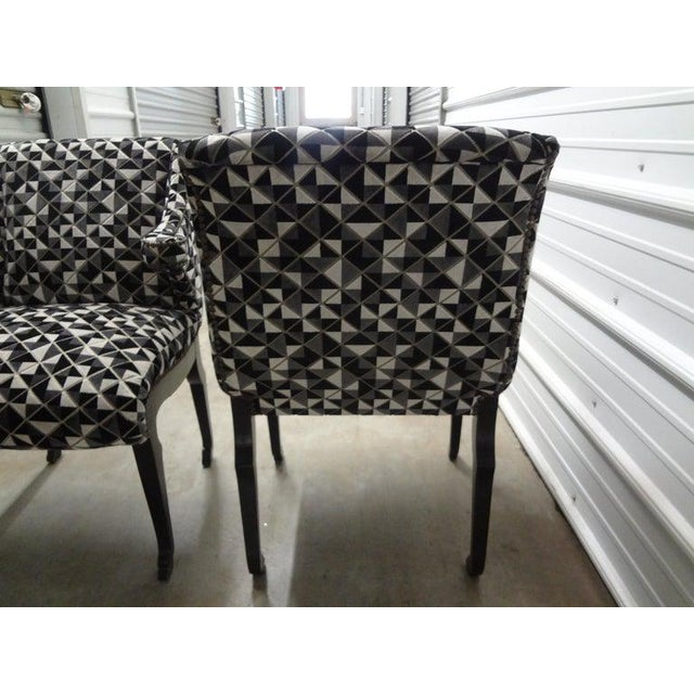 Metal James Mont Inspired Ebonized Chairs With Hoof Feet-A Pair For Sale - Image 7 of 13