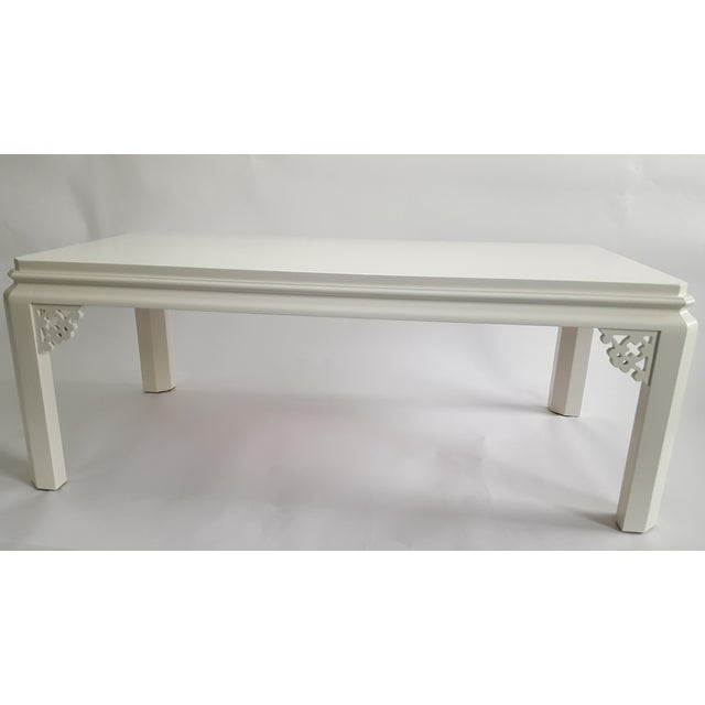 Lacquered Fretwork Coffee Table - Image 3 of 4