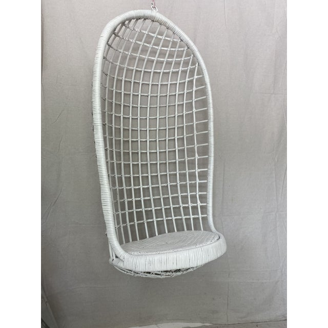 Late 20th Century Vintage Hanging Rattan Egg Chair For Sale - Image 5 of 13