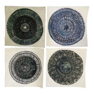 Medallions Original Paintings by Neicy Frey - Set of 4 For Sale