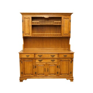 "Tell City Young Republic Colonial Solid Maple 60"" Buffet W. Hutch For Sale"