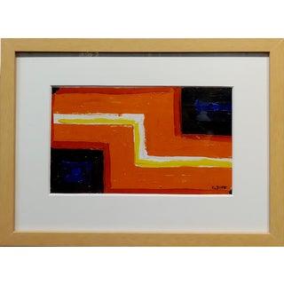 Conrad Buff - Orange Z Highway - Modernist Oil Painting For Sale