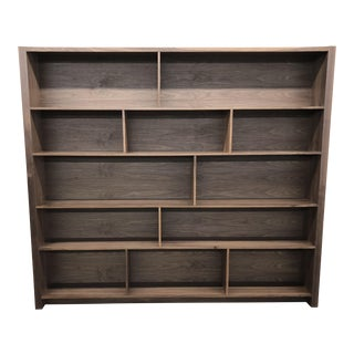 Modern Walnut Bookshelf