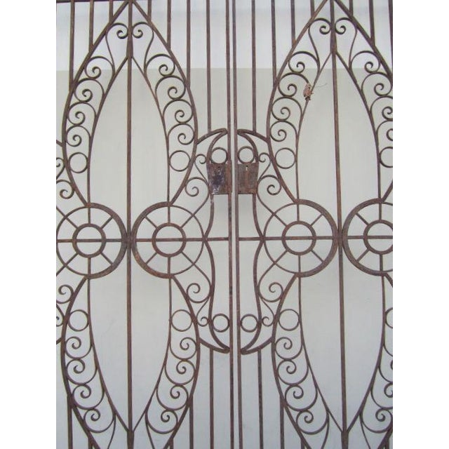19th C. Egyptian Iron Gates - A Pair - Image 5 of 6