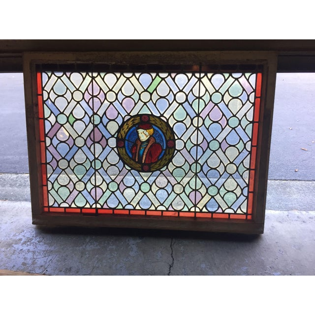 15th Century & Earlier Antique Gothic Stained Glass Panels- a Pair For Sale - Image 5 of 12