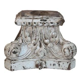 Antique Distressed Wood Corbel Candleholder
