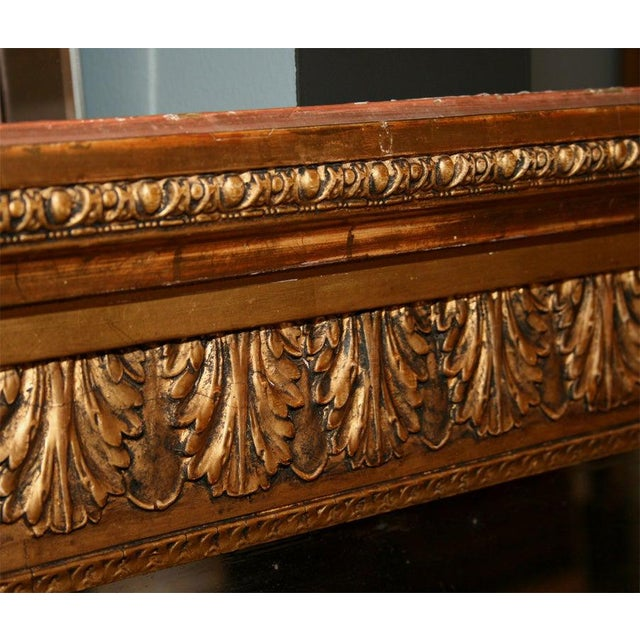 Wood Giltwood Louis XVI Style Mirror For Sale - Image 7 of 10