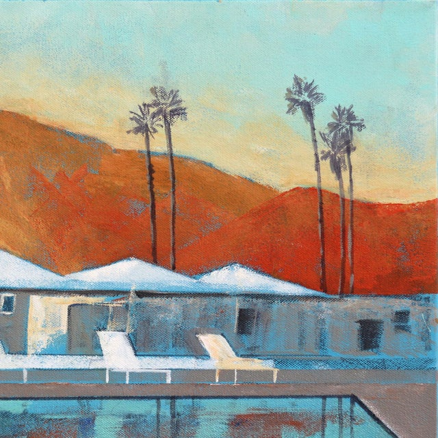 "Contemporary ""Mid Century Palm Springs Sunset"" Original Artwork by Kathleen Keifer For Sale - Image 3 of 8"
