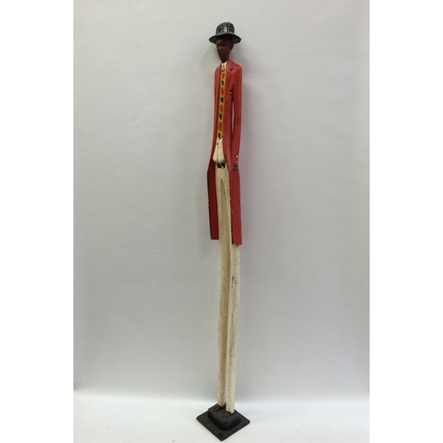 African Tribal Art Carved Wood Colonial Statue/Sculpture - Image 6 of 6