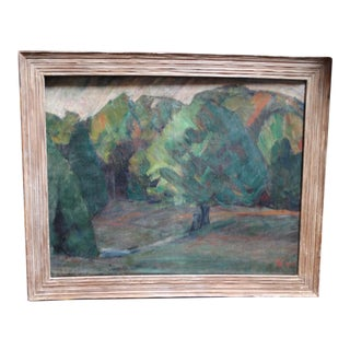 1917 California Landscape Impressionist Painting For Sale