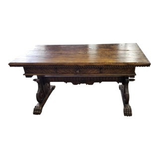 Antique Spanish Colonial Walnut Console or Writing Table For Sale