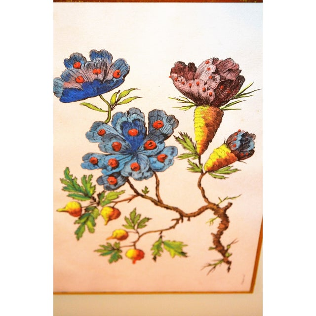 French Chinoiserie Hand Colored Floral Prints - Image 8 of 11