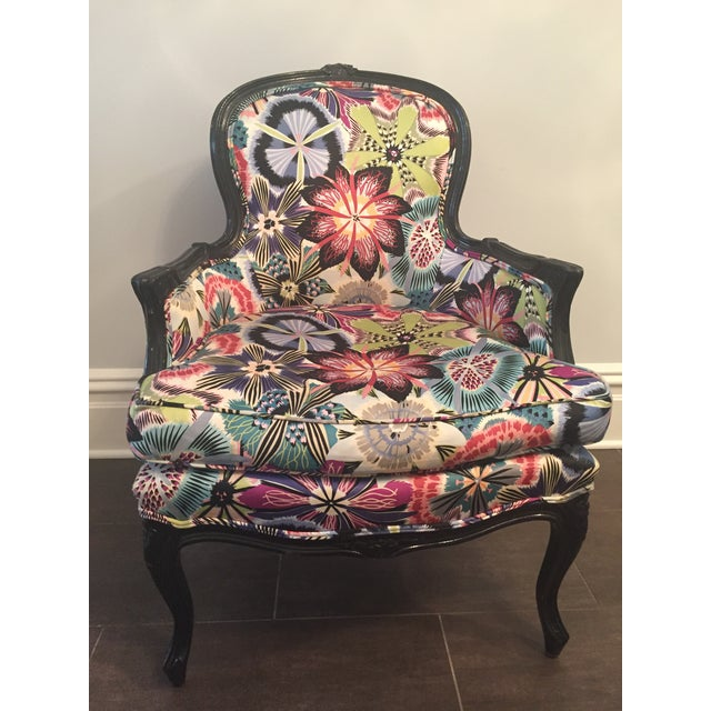 Missoni Fabric Covered Bergere Chair