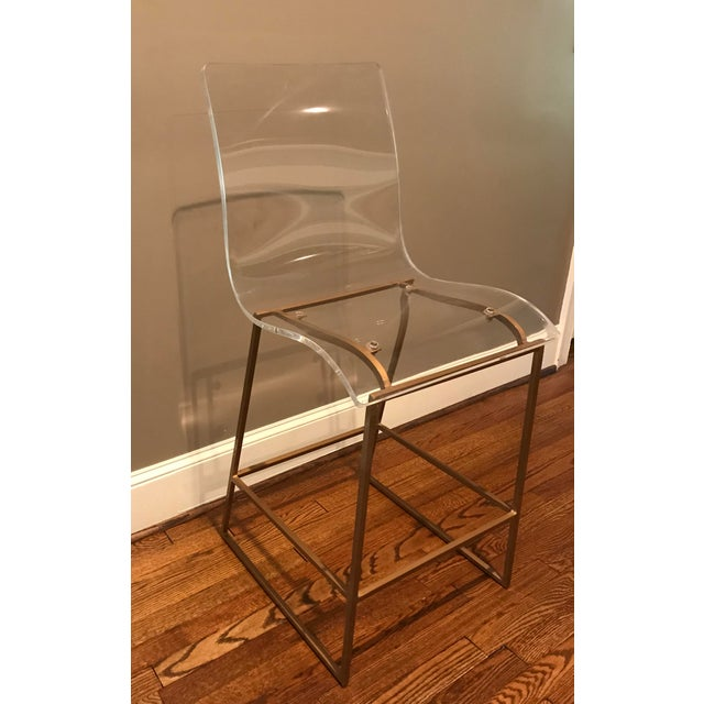 Miraculous Gold And Acrylic Bar Stool Inzonedesignstudio Interior Chair Design Inzonedesignstudiocom