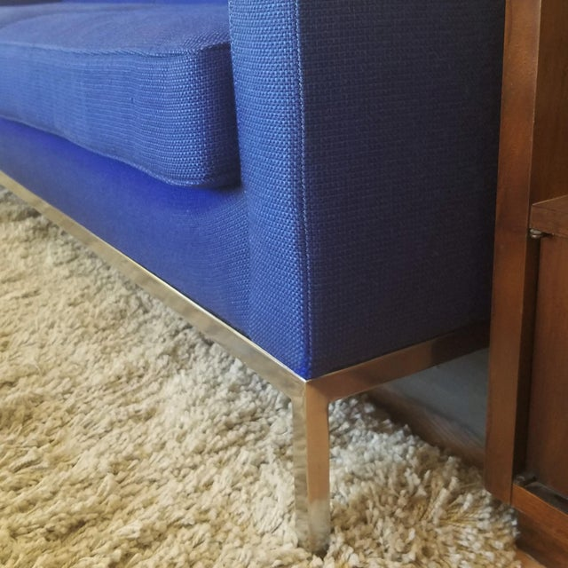 1960s Florence Knoll Three Seater Sofa W/ Original Fabric For Sale - Image 10 of 13