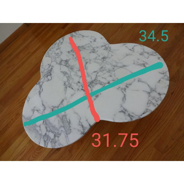 Mid-Century Modern Marble Clover Coffee Table For Sale - Image 9 of 9