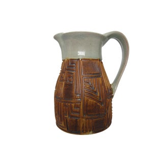 Small Geometric Pitcher by Ingrid Guiter for Amancay Pottery For Sale