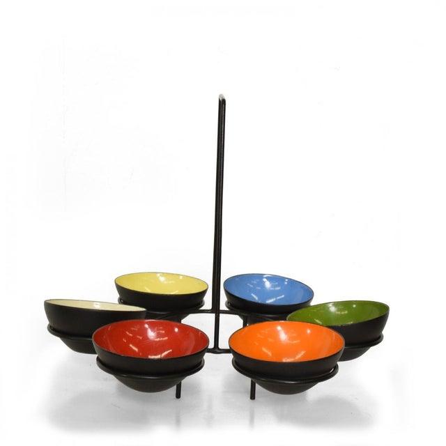 Mid-Century Modern Center Piece Enamel Bowls - 6 Pc. Set For Sale - Image 10 of 10