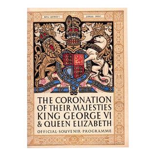 King George VI of England Coronation Souvenir Program 1937 For Sale