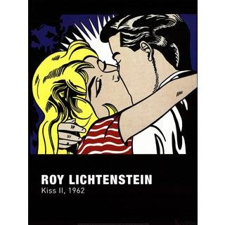 Roy Lichtenstein, Kiss II, 2012 Poster