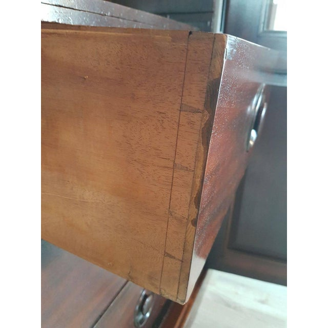 20th Century English Mahogany Wood Bookcase For Sale - Image 9 of 11