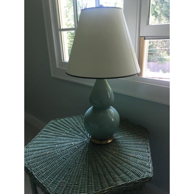 Traditional Transitional Gourd Lamp From Christopher Spitzmiller with Shade For Sale - Image 3 of 6