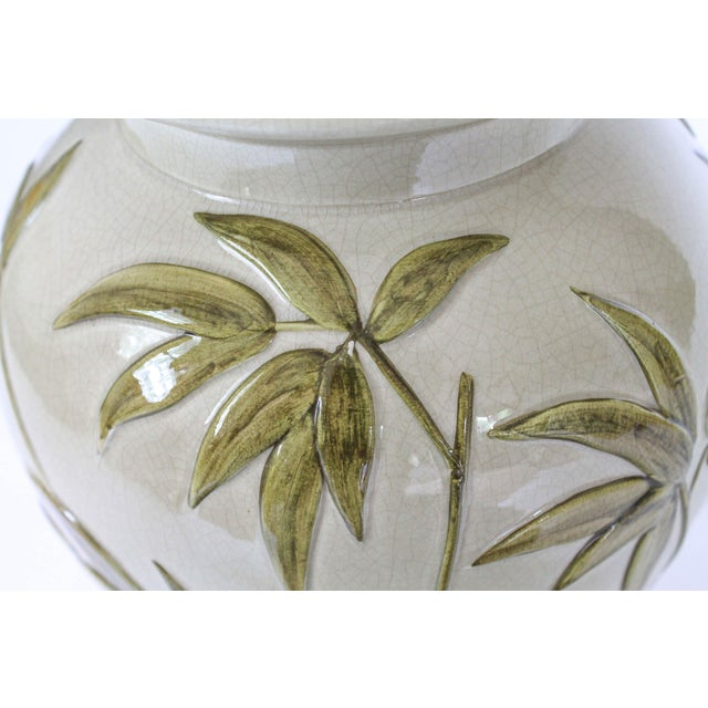 Green Frederick Cooper Table Lamp W/ Bamboo Motif For Sale - Image 8 of 11