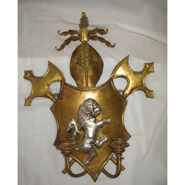 Antique Italian Shield Sconces - A Pair - Image 7 of 8
