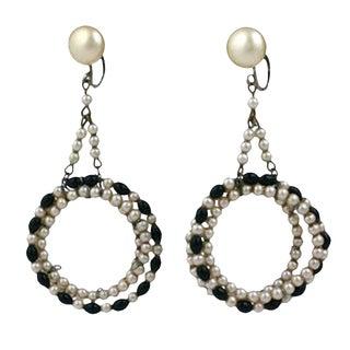 Rousselet Art Deco Hoop Earrings For Sale