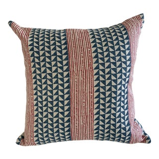 Carolina Irving Aegean Stripe Pillow Cover For Sale
