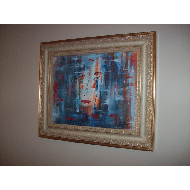 """Face"" Original Mixed Media Painting by Dawn Walling - Image 3 of 5"