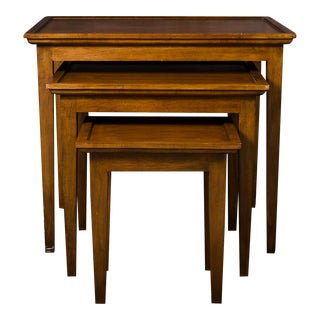 Traditional Wood Nesting Tables - Set of 3