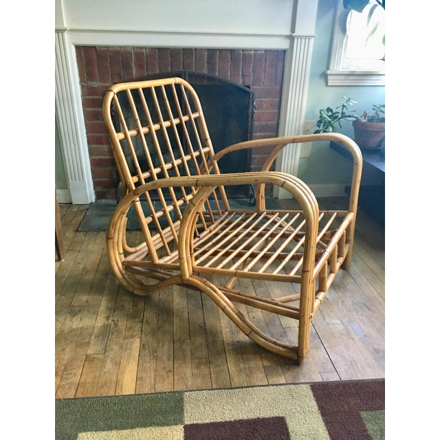 Mid-Century Modern Bamboo Club Chair - Image 10 of 10