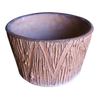 "Architectural Pottery ""Scratch"" Pattern Planter"