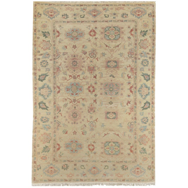 Mansour Exceptional Handmade Sultanabad Rug For Sale