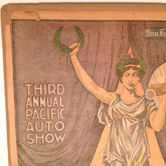 Antique San Francisco Examiner Auto Show Print - Image 4 of 6