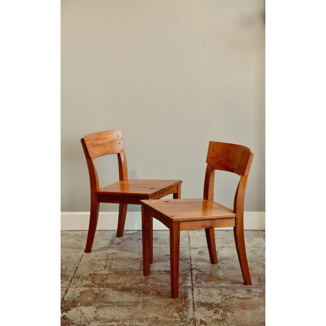 1990s Vintage Woodworker Studio Chairs- A Pair For Sale - Image 12 of 12