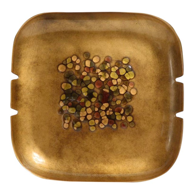 Enameled Mid Century Ashtray by Bovano For Sale