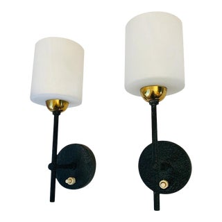 1960s Lunel French Wall Lights - a Pair For Sale