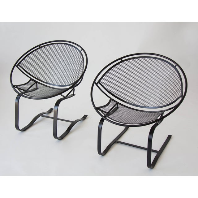 Black Pair of Salterini Patio Rocking Chairs by Maurizio Tempestini For Sale - Image 8 of 8