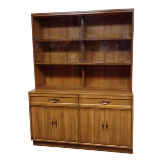 American of Martinsville Mid Century Buffet With Hutch For Sale