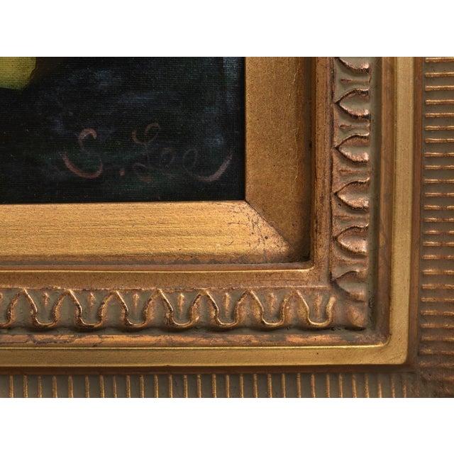 Giltwood Carved Frame Artwork Oil Painting Still Life For Sale - Image 4 of 9