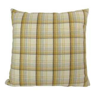 Custom Plaid Flannel Pillow For Sale